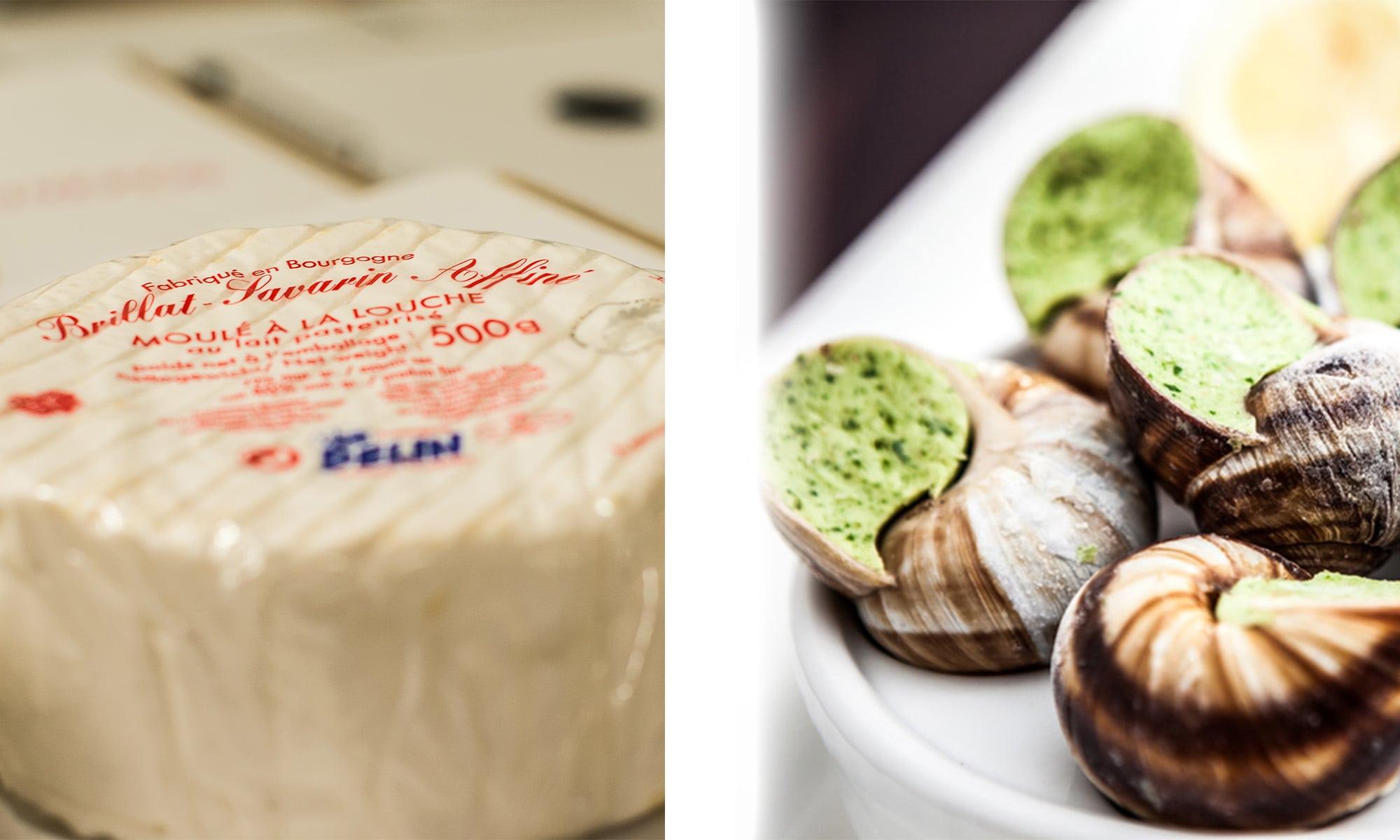 Fricassée d'escargots de Bourgogne au Brillat-Savarin