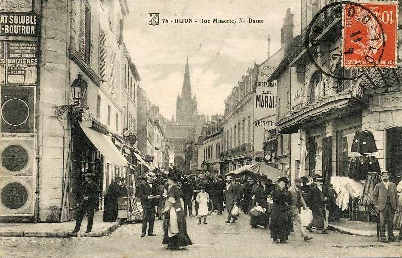 Dijon, restaurant du Marais, des gibiers plein la rue Musette