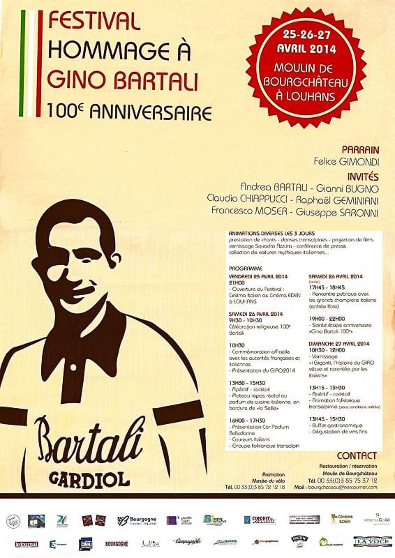 La Bresse bourguignonne fête Gino Bartali