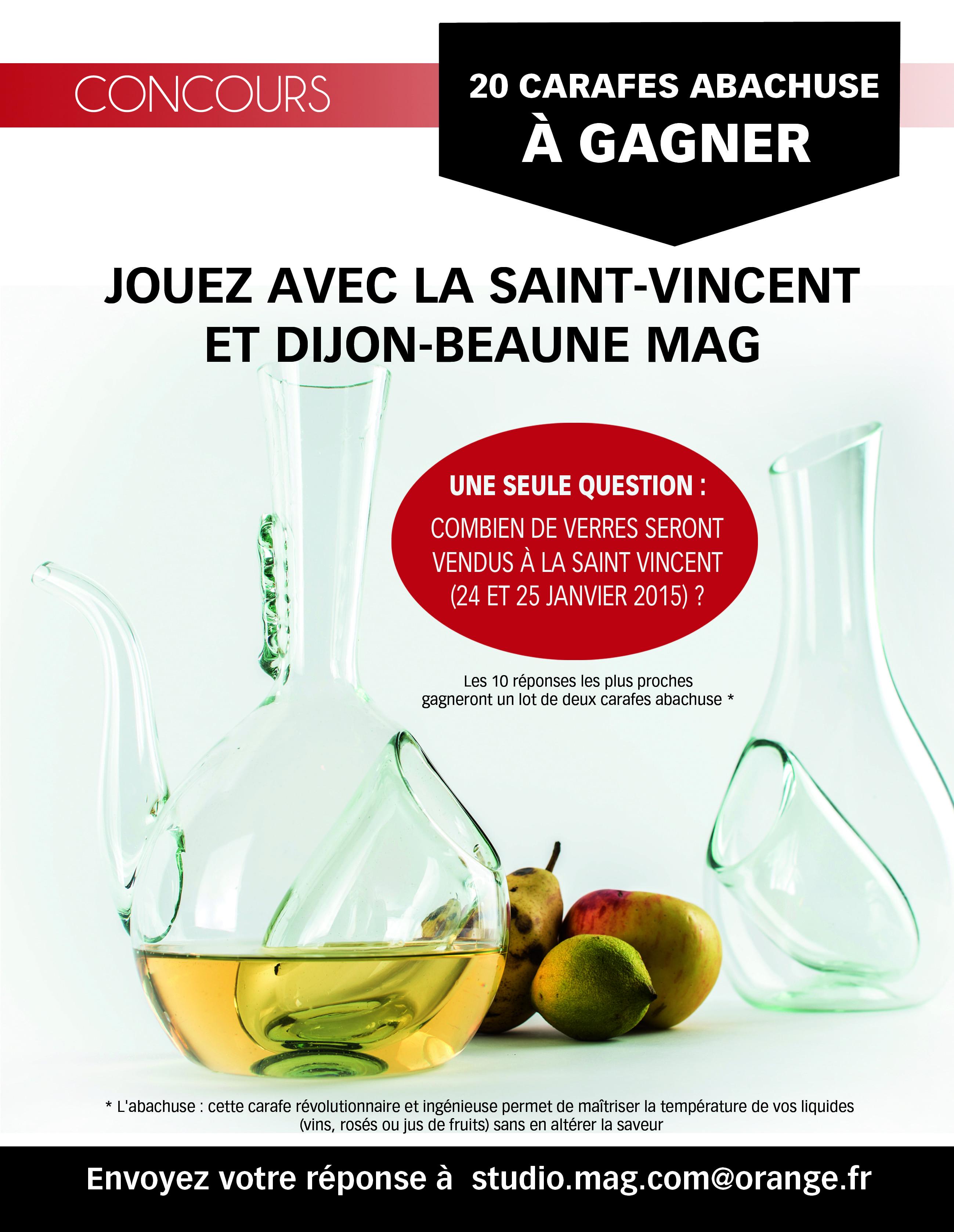 Saint-Vincent 2015: des carafes à gagner