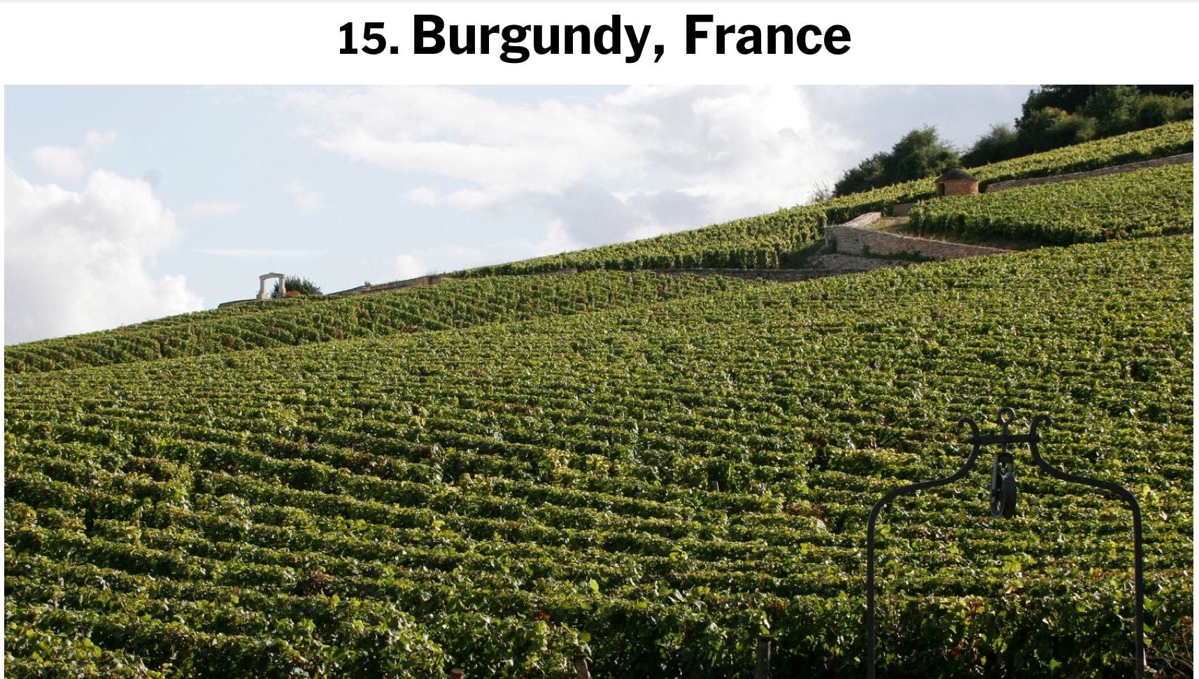 La Bourgogne au top selon le New York Times