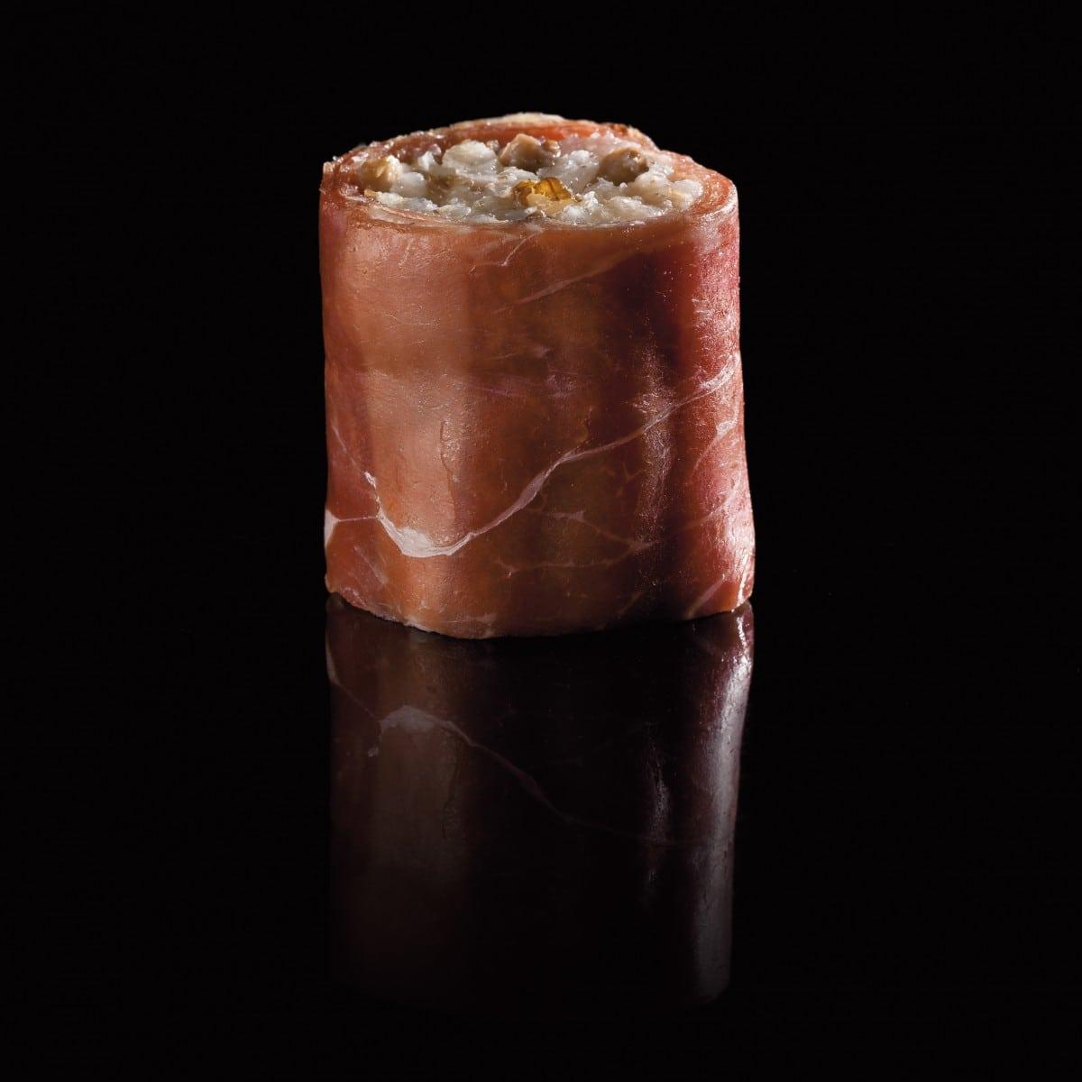La recette. Maki de jambon cru, comté et noix grillées
