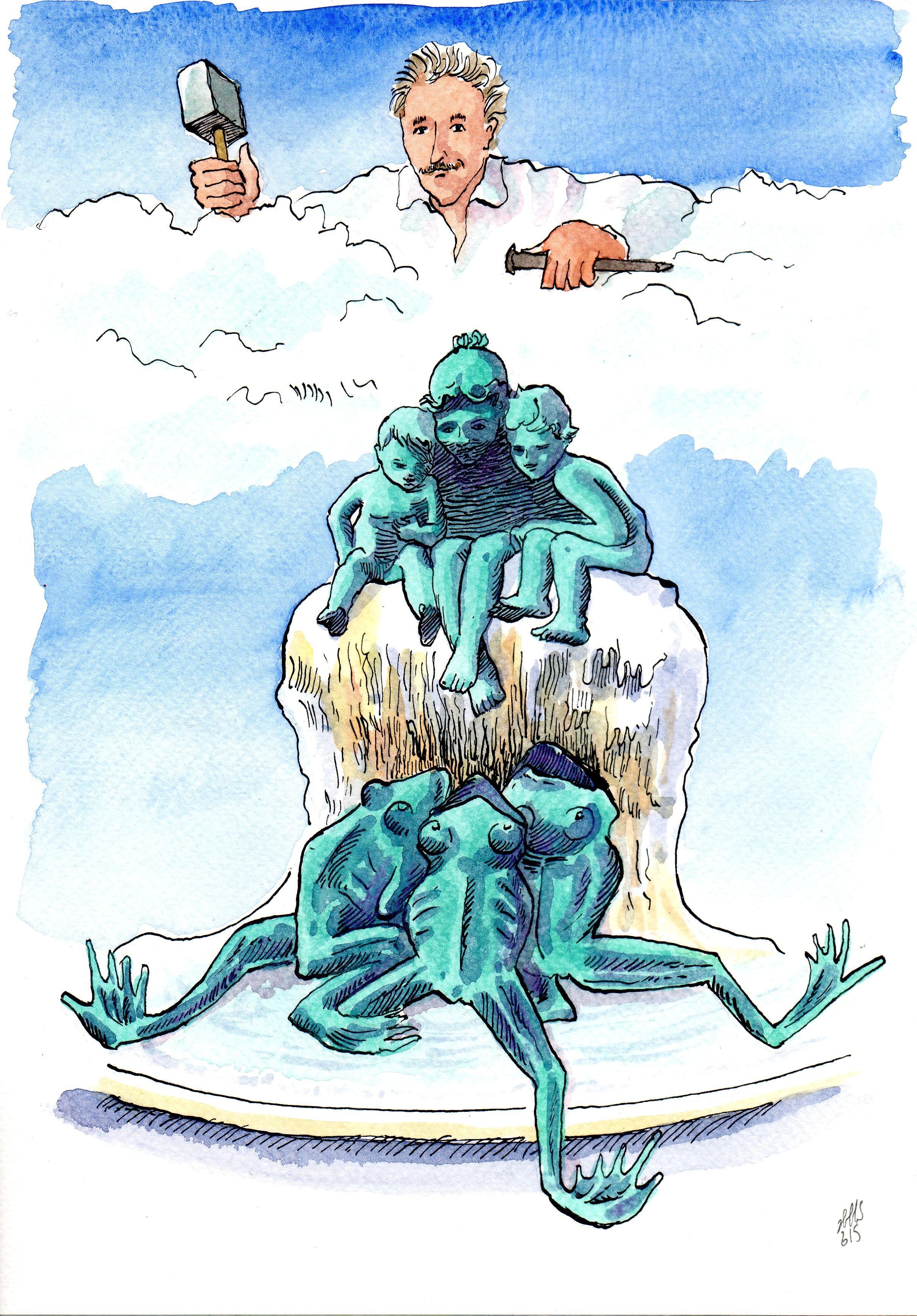 Les rimes inspirées de la Fontaine aux grenouilles