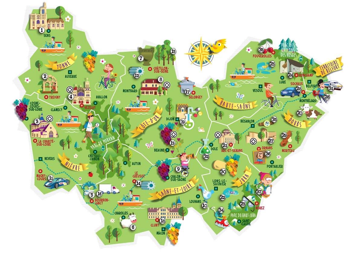 Choisissez un nom pour la Bourgogne-Franche-Comté