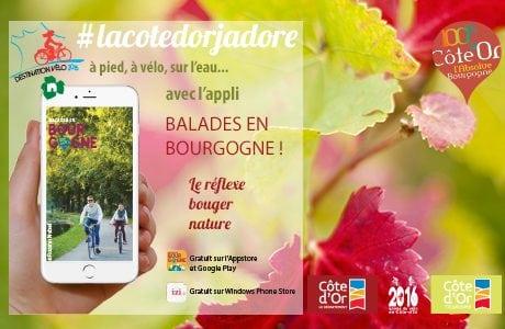 Balades en Bourgogne, l'appli phénomène
