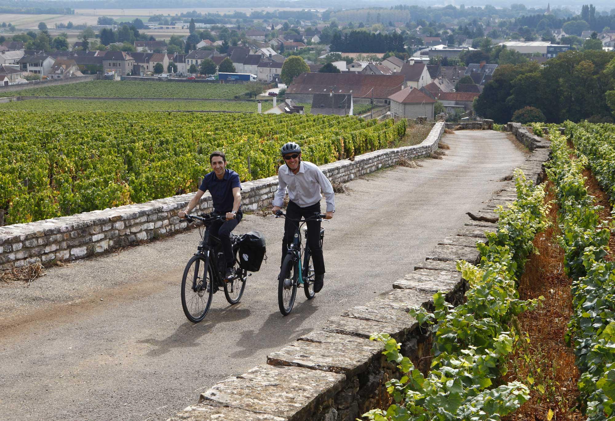 Le vélo dans la roue des Climats de Bourgogne