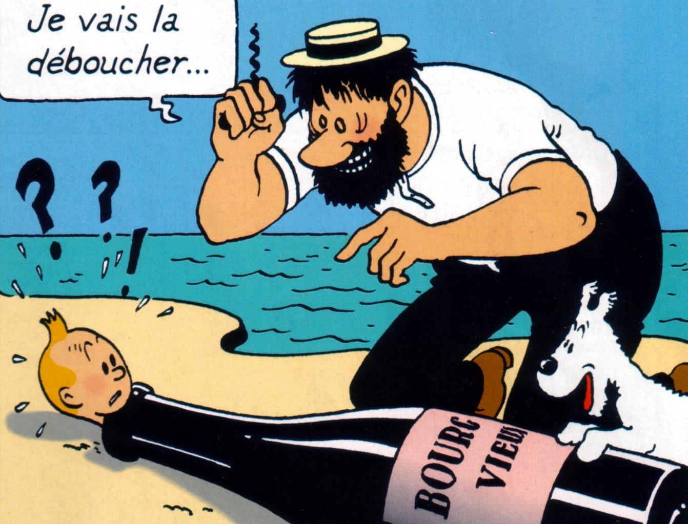 Beaune et l'esprit Tintin
