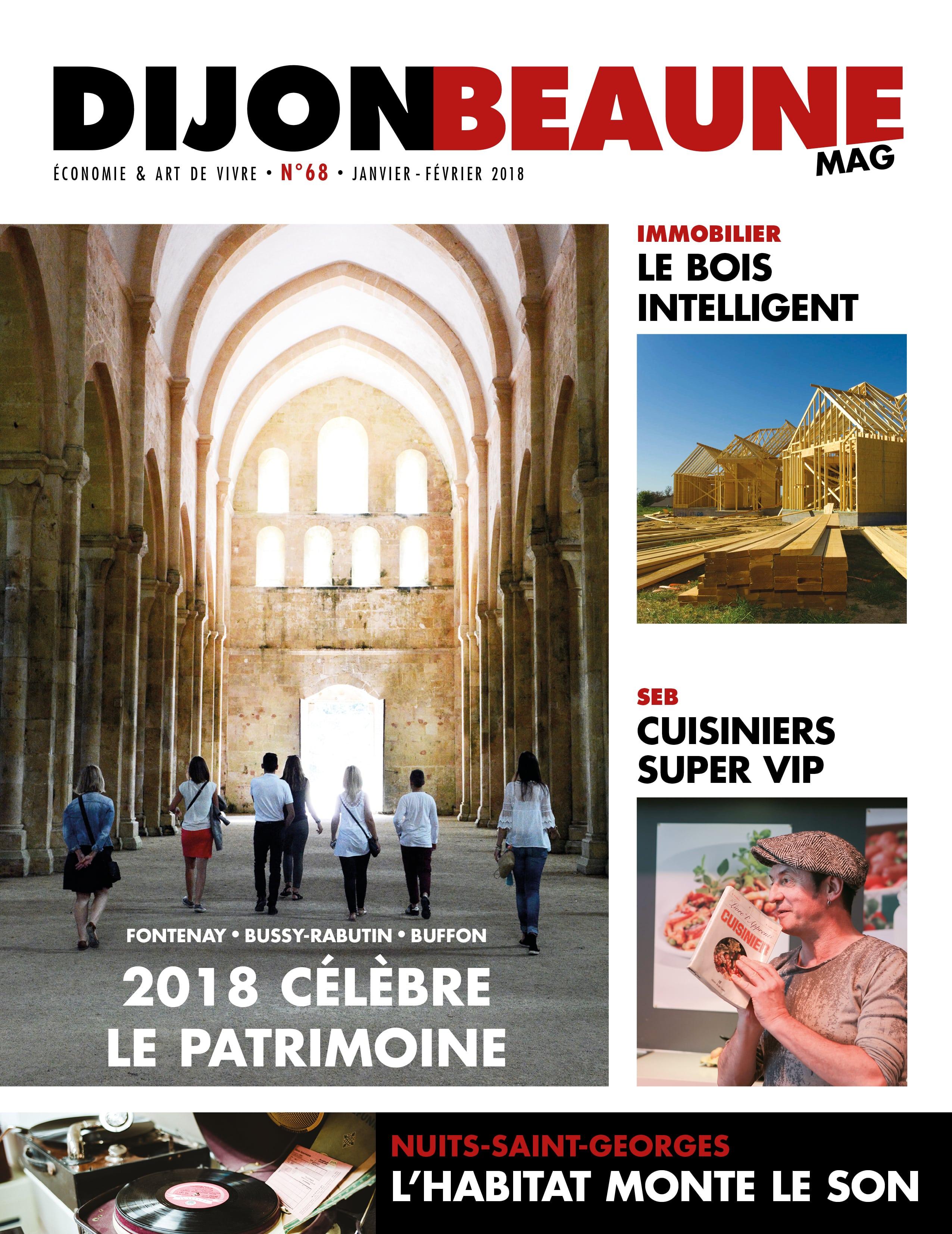 Pour 2018, Dijon-Beaune Mag #68 célèbre les Épiques Époques