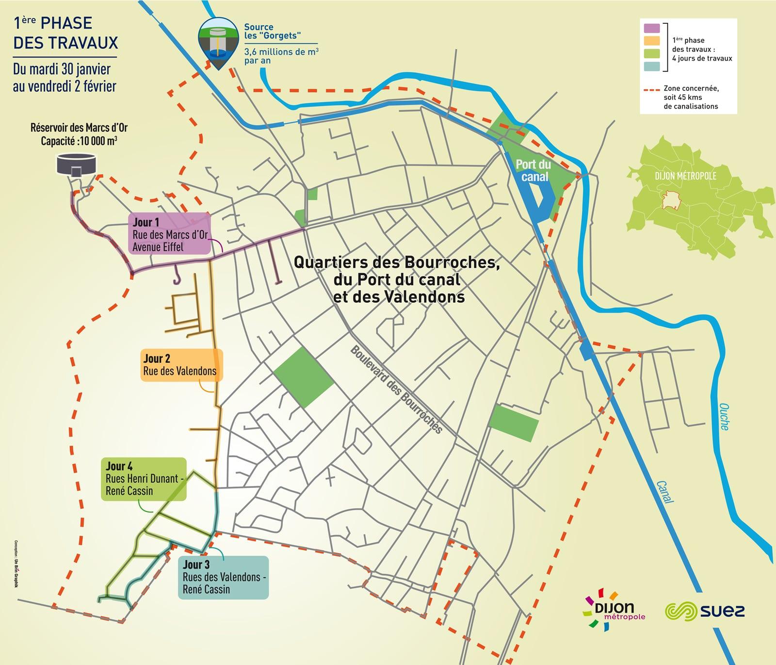 Coloration de l'eau à Dijon : Suez brise la glace