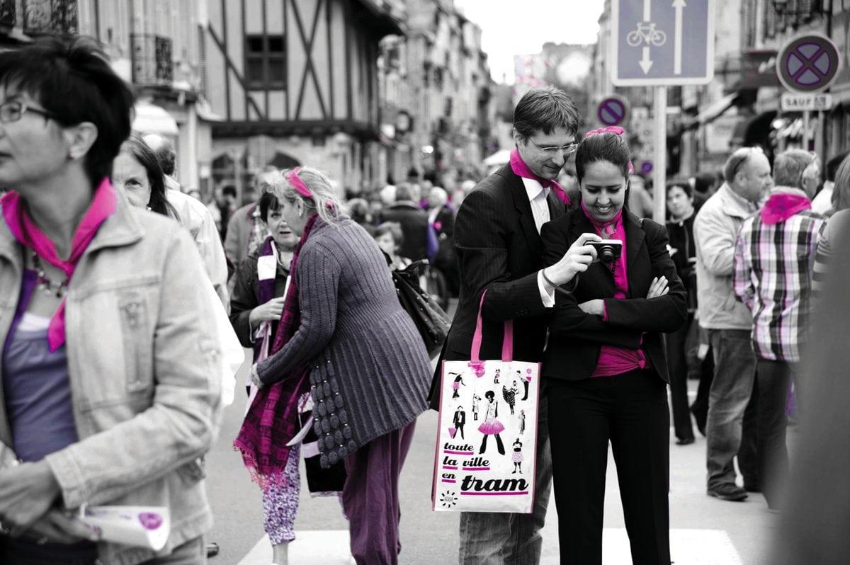 Tramway et Dijon, la vi(ll)e en rose