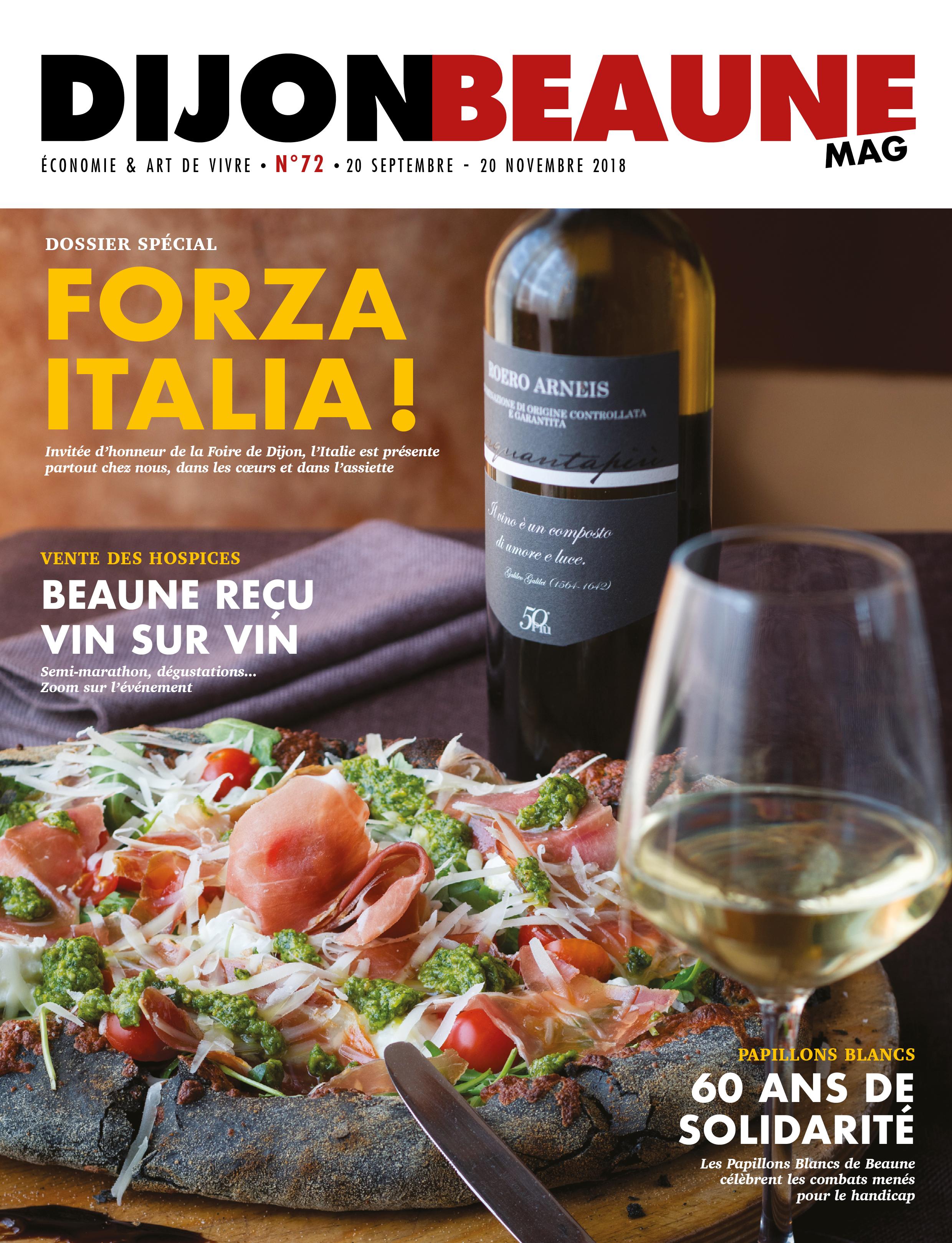 Dijon-Beaune Mag #72 célèbre Dijon à l'italienne !