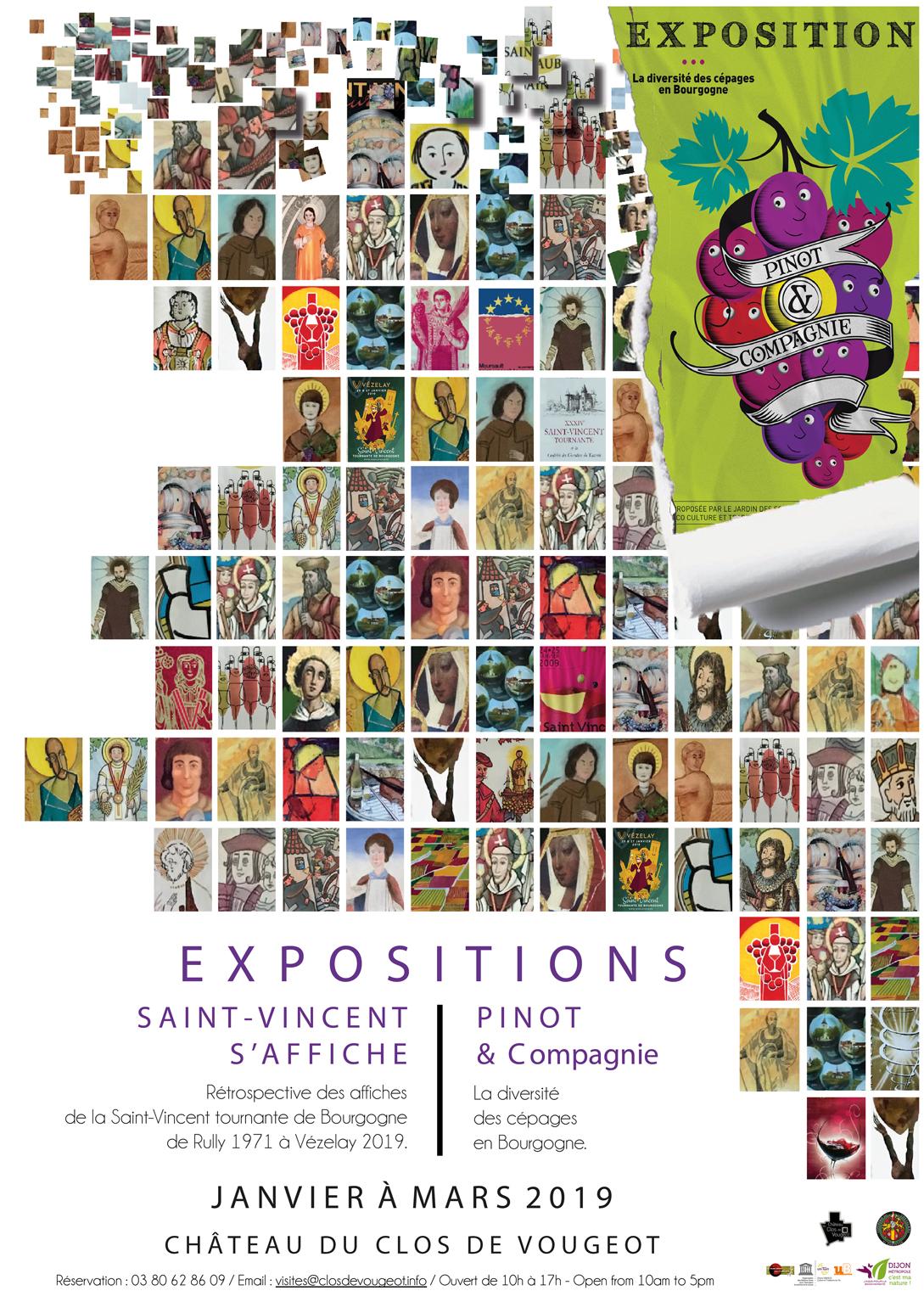 Cépages et saints Vincent s'affichent au Clos de Vougeot