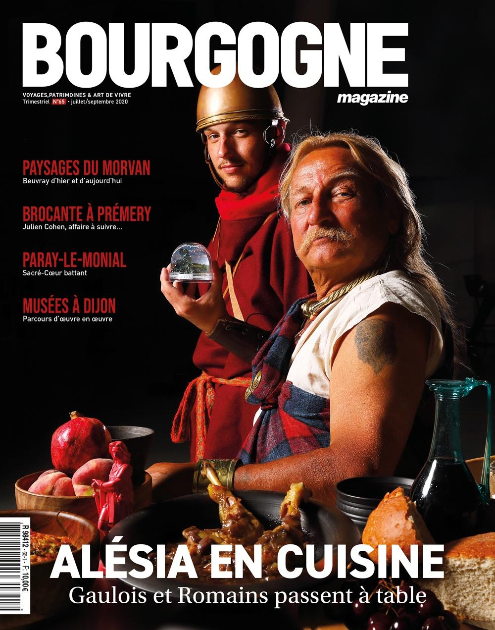 Bourgogne Magazine n°65 envoie Gaulois et Romains en cuisine