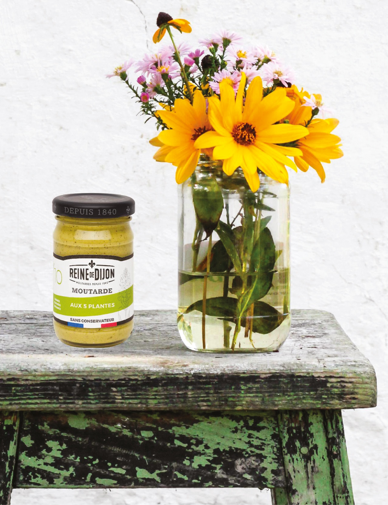Reine de Dijon relooke ses moutardes 100% Bourgogne