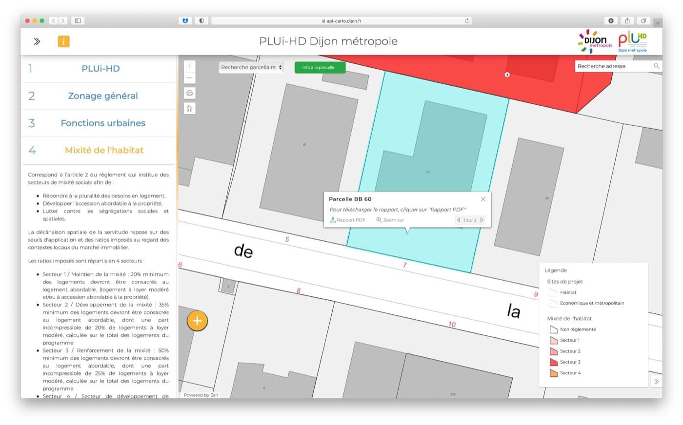 Un nouveau site cartographique pour tout connaitre du PLUi-HD de Dijon Métropole