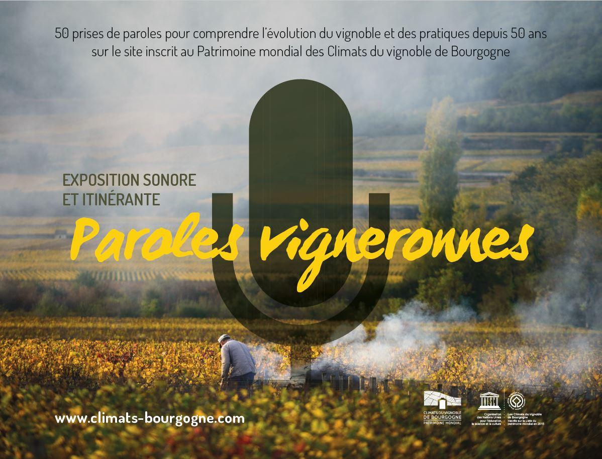 Expo à écouter : Paroles vigneronnes, la mémoire du vin et des Climats de Bourgogne