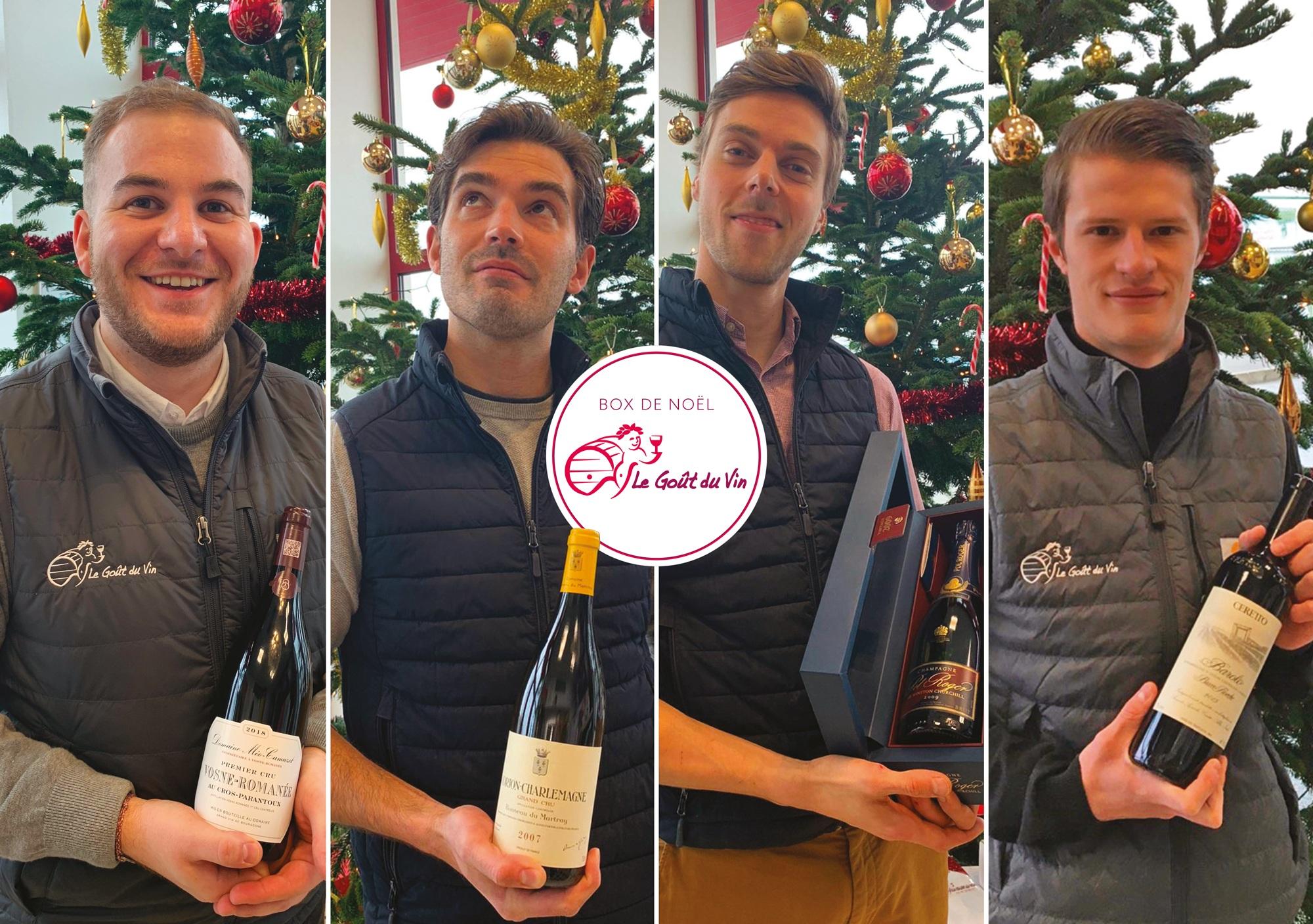Quatre idées de « box » cadeaux par le Goût du Vin