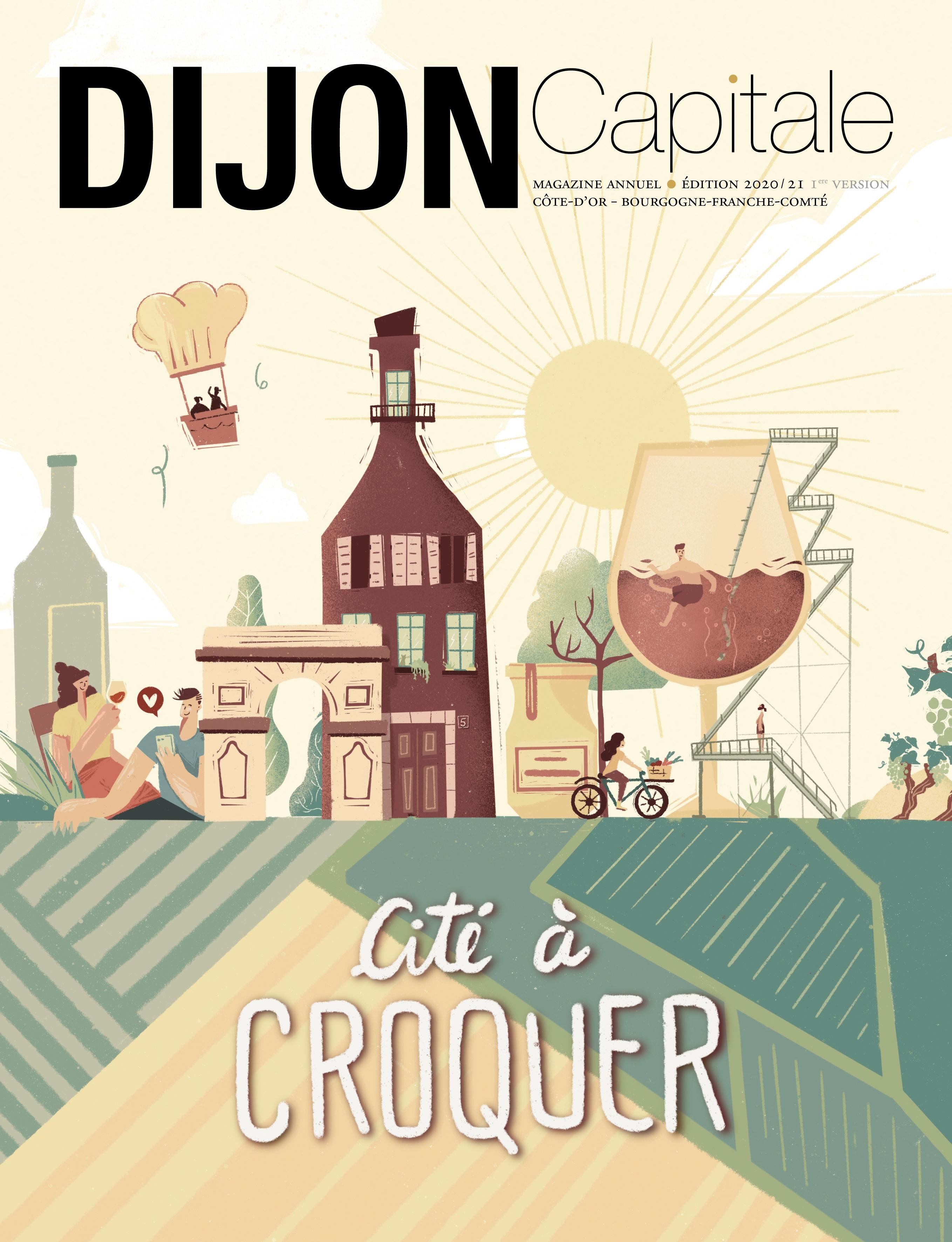 Le magazine Dijon Capitale sort un numéro spécial «Cité à croquer»