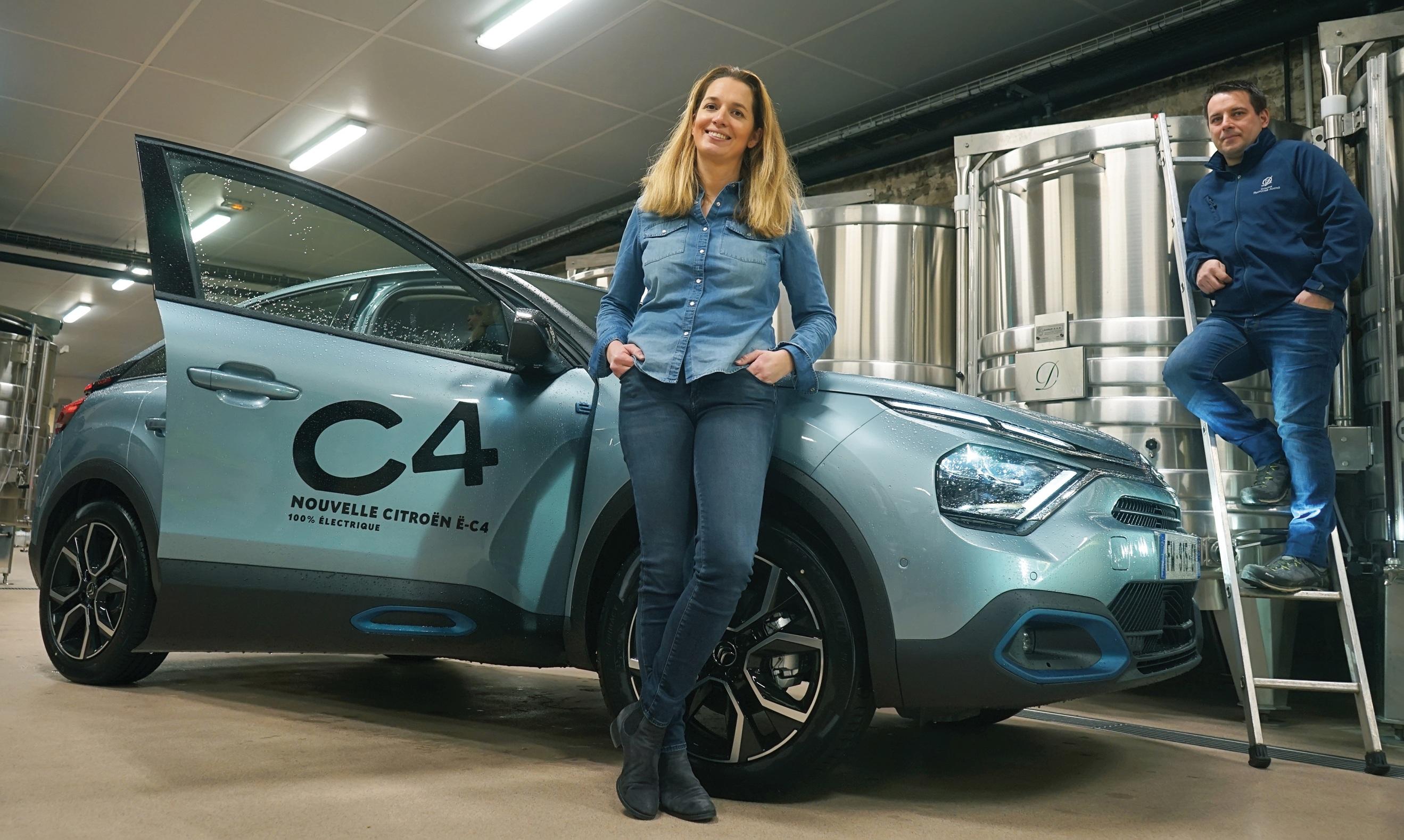 Citroën ëC4 au domaine Françoise André : à Beaune, silence en cuverie