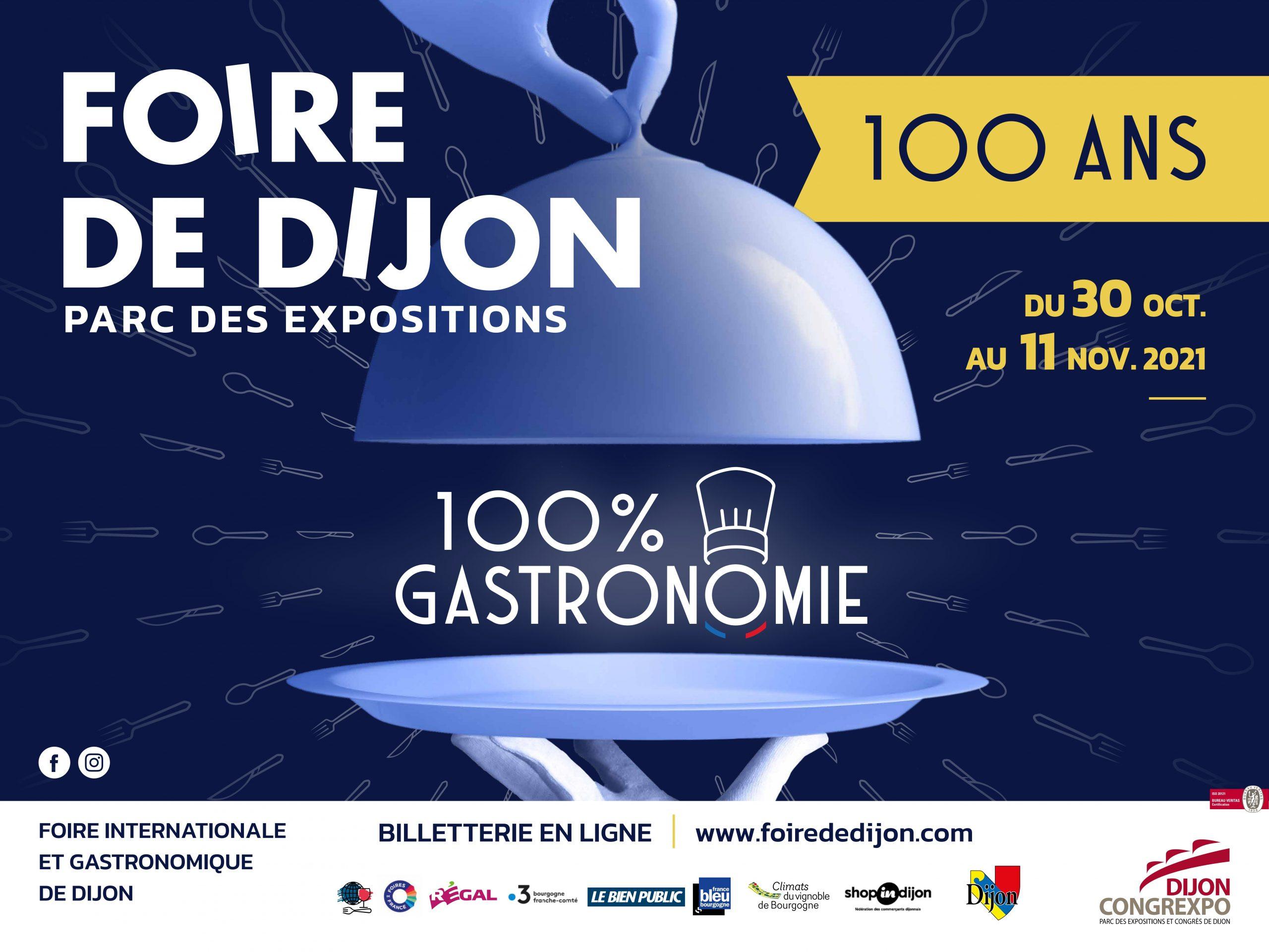 La Foire de Dijon fêtera ses 100 ans du 30 octobre au 11 novembre 2021