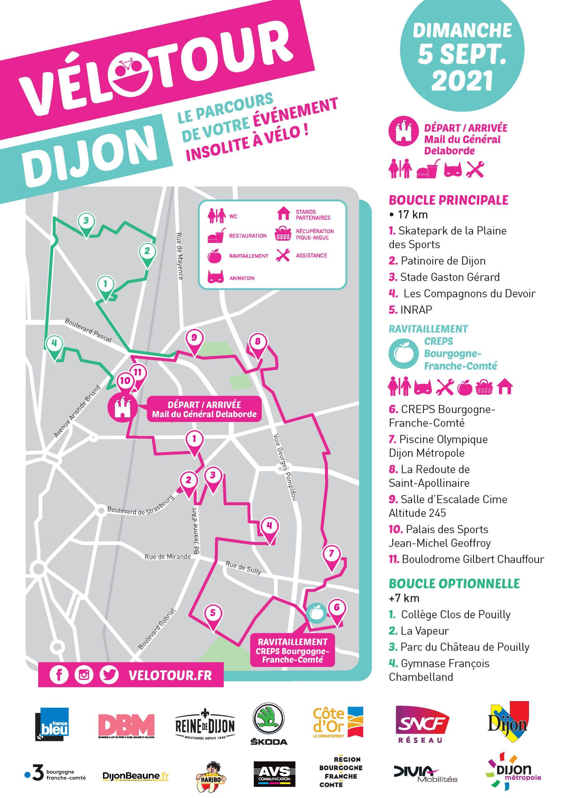 Découvrez le circuit du Vélotour Dijon 2021 : cap à l'est !