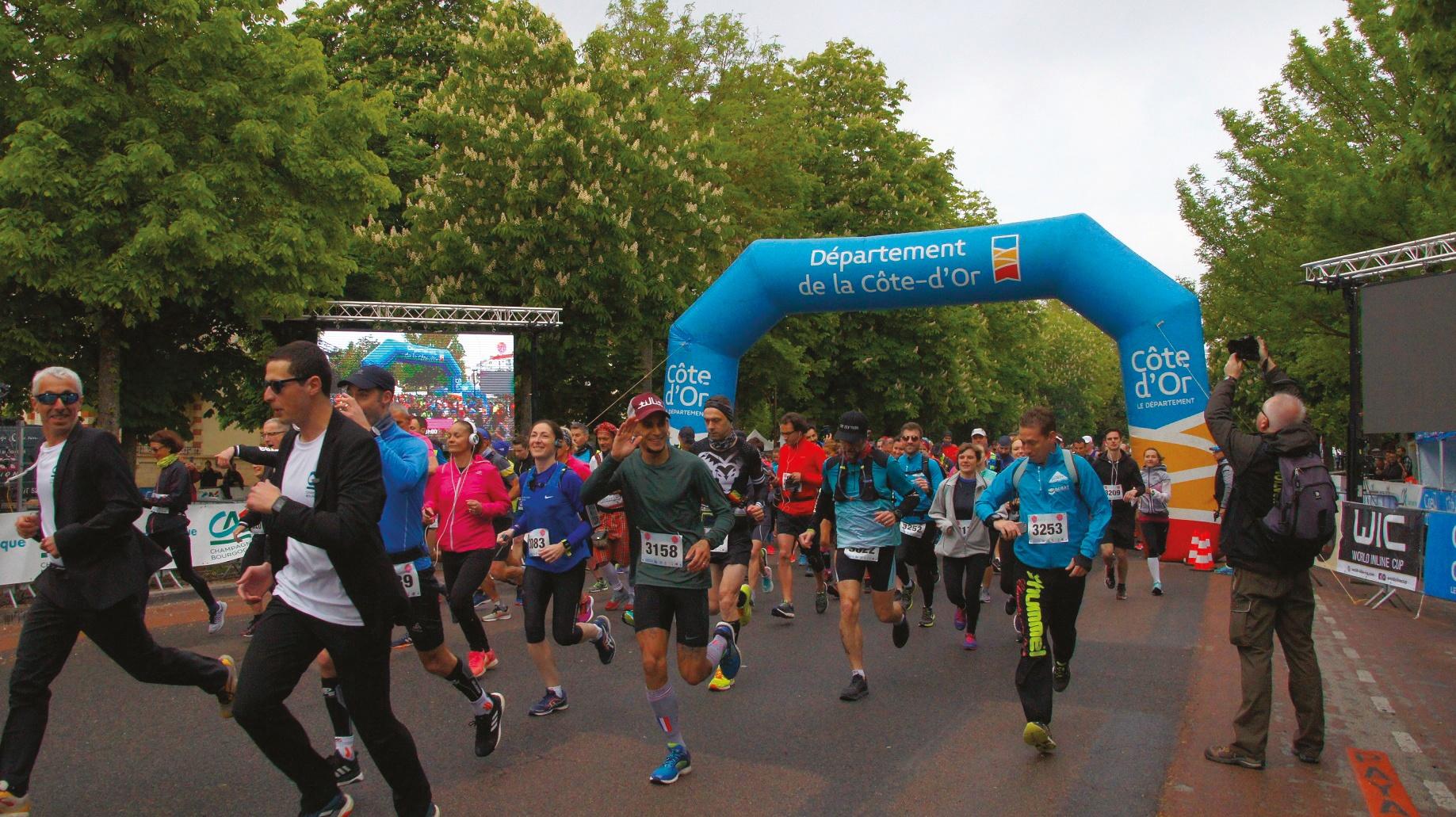 Marathon des Grands Crus : course et roller sur les Champs-Elysées de la Bourgogne