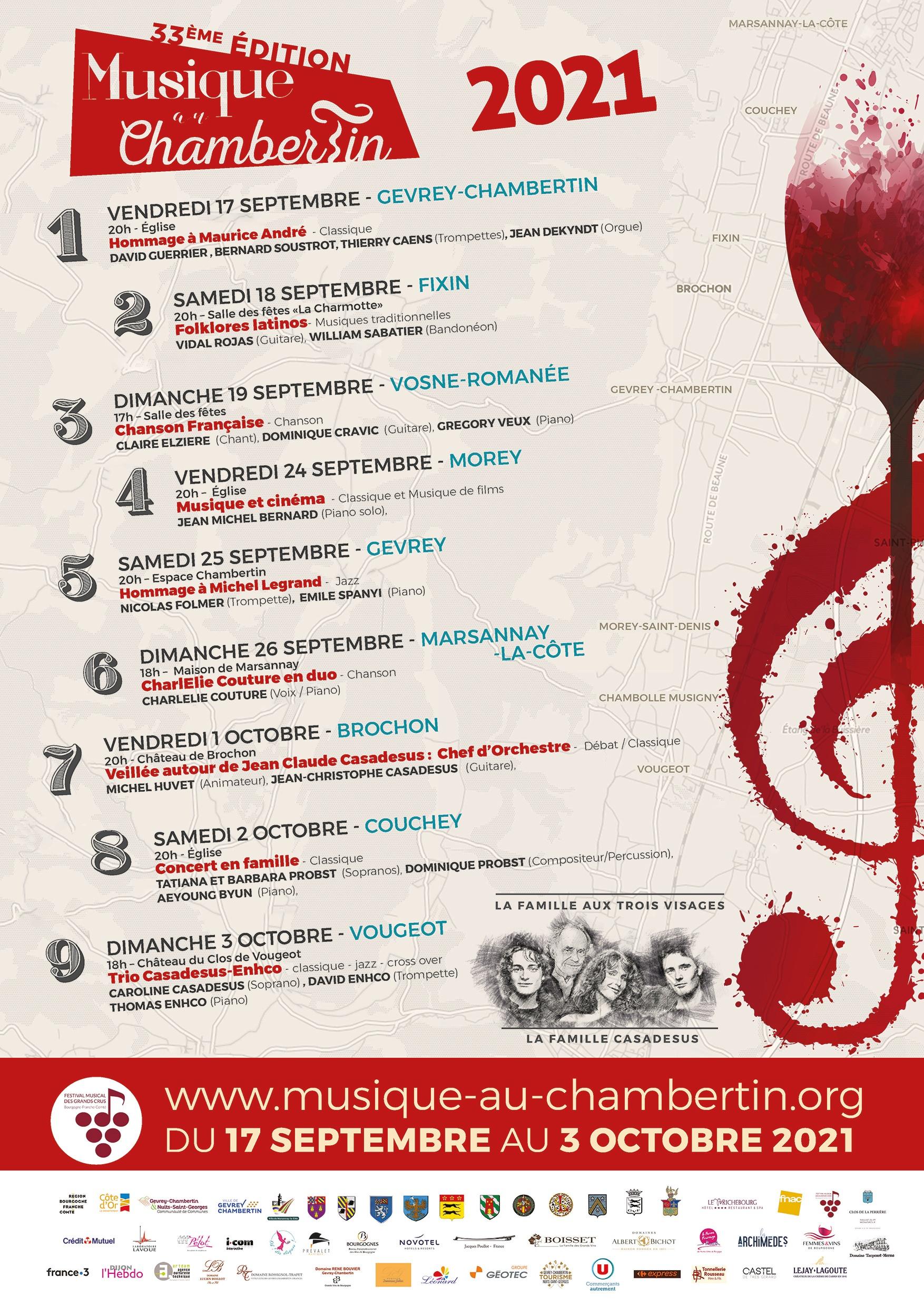 Musique au Chambertin 2021 : le remède n°1 de la côte de Nuits revient cet automne